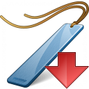 Bookmark Blue Down Icon 128x128