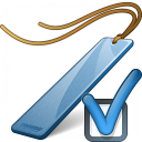Bookmark Blue Preferences Icon 128x128