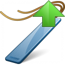 Bookmark Blue Up Icon 128x128