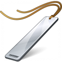 Bookmark Silver Icon 128x128