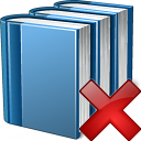 Books Blue Delete Icon 128x128