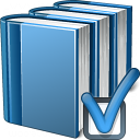Books Blue Preferences Icon 128x128