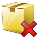 Box Closed Delete Icon 128x128