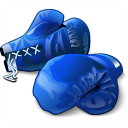 Boxing Gloves Blue Icon 128x128
