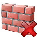 Brickwall Delete Icon 128x128