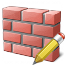 Brickwall Edit Icon 128x128