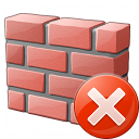 Brickwall Error Icon 128x128