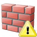 Brickwall Warning Icon 128x128