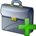 Briefcase Add Icon 128x128