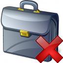 Briefcase Delete Icon 128x128