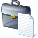 Briefcase Document Icon 128x128
