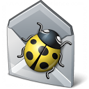 Bug Mail Icon 128x128