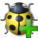 Bug Yellow Add Icon 128x128