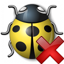 Bug Yellow Delete Icon 128x128