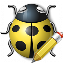 Bug Yellow Edit Icon 128x128