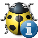 Bug Yellow Information Icon 128x128