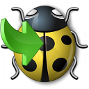 Bug Yellow Into Icon 128x128
