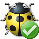 Bug Yellow Ok Icon 128x128