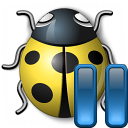Bug Yellow Pause Icon 128x128