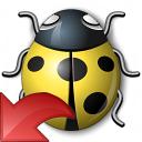 Bug Yellow Reset Icon 128x128