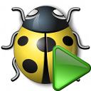 Bug Yellow Run Icon 128x128