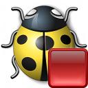 Bug Yellow Stop Icon 128x128