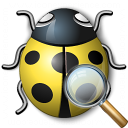 Bug Yellow View Icon 128x128