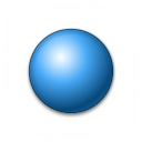 Bullet Ball Blue Icon 128x128