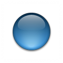 Bullet Ball Glass Blue Icon 128x128