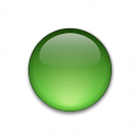 Bullet Ball Glass Green Icon 128x128