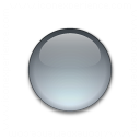 Bullet Ball Glass Grey Icon 128x128