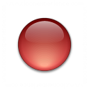 Bullet Ball Glass Red Icon 128x128