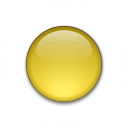 Bullet Ball Glass Yellow Icon 128x128