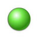 Bullet Ball Green Icon 128x128