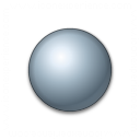 Bullet Ball Grey Icon 128x128
