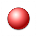 Bullet Ball Red Icon 128x128