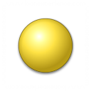 Bullet Ball Yellow Icon 128x128