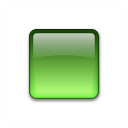 Bullet Square Glass Green Icon 128x128