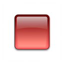 Bullet Square Glass Red Icon 128x128