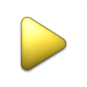 Bullet Triangle Yellow Icon 128x128