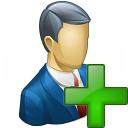 Businessman Add Icon 128x128