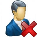 Businessman Delete Icon 128x128