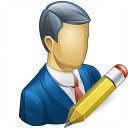 Businessman Edit Icon 128x128