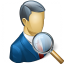 Businessman View Icon 128x128