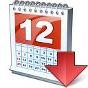 Calendar Down Icon 128x128