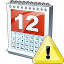 Calendar Warning Icon 128x128