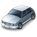 Car Compact Grey Icon 128x128