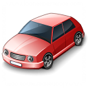 Car Compact Red Icon 128x128