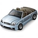 Car Convertible Grey Icon 128x128