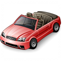 Car Convertible Red Icon 128x128